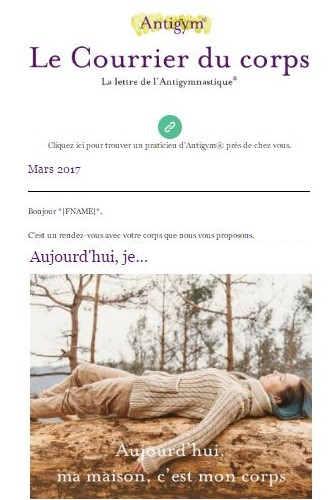 la newsletter de l'antigymnastique